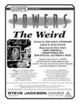RPG Item: GURPS Powers: The Weird