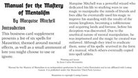 RPG Item: Manual for the Mastery of Mentalism