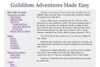 RPG Item: Guilddom Adventures Made Easy