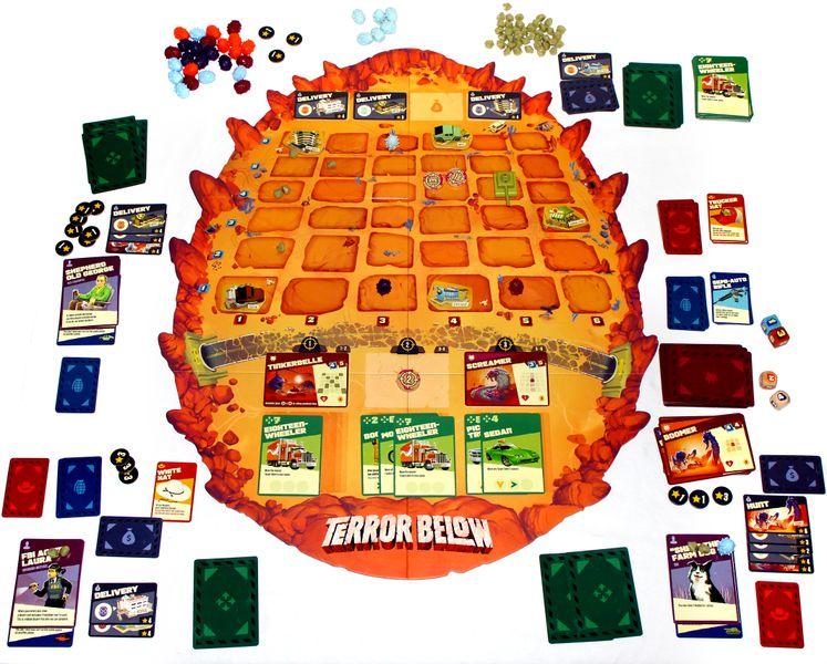 A game of Terror Below in progress!