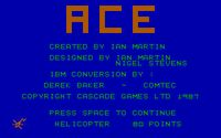 Video Game: ACE Air Combat Emulator