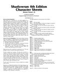 RPG Item: Shadowrun 4th Edition Character Sheets