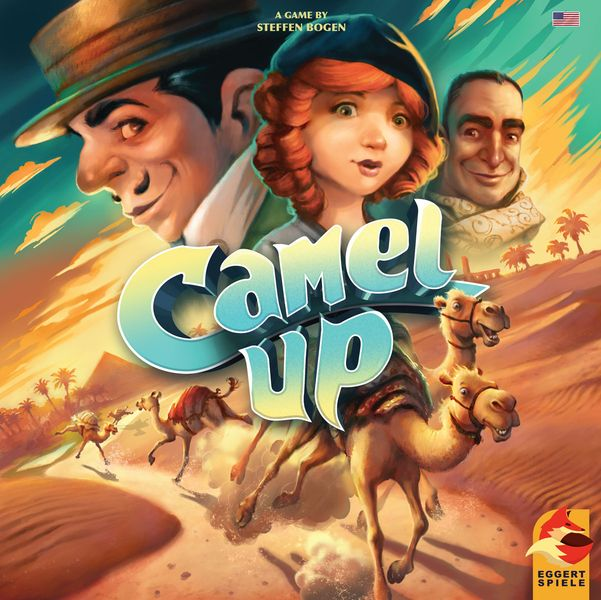 Camel Up, eggertspiele, 2018 — front cover (image provided by the publisher)