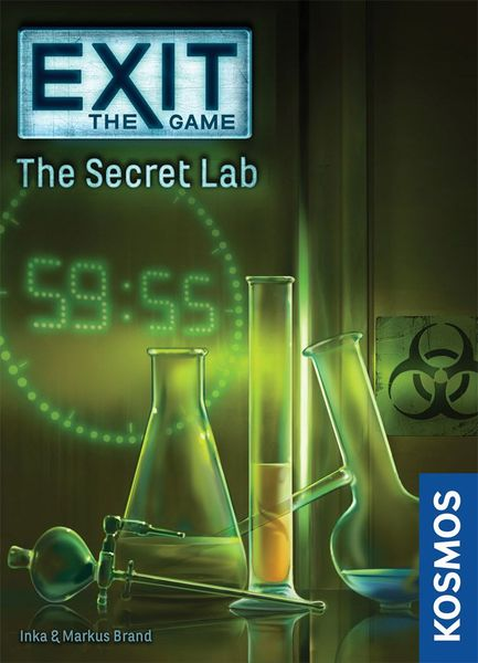 Exit: The Game – The Secret Lab, KOSMOS, 2017 — front cover (image provided by the publisher)