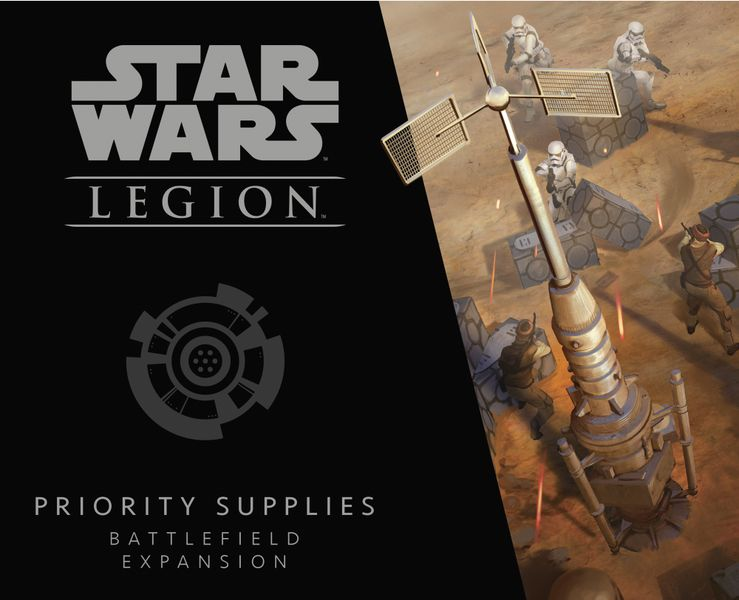 Star Wars: Legion – Priority Supplies Battlefield Expansion, Fantasy Flight Games, 2018 — front cover (image provided by the publisher)