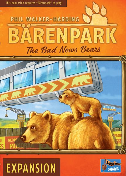 Bärenpark: The Bad News Bears, Lookout Games, 2019 — front cover (image provided by the publisher)