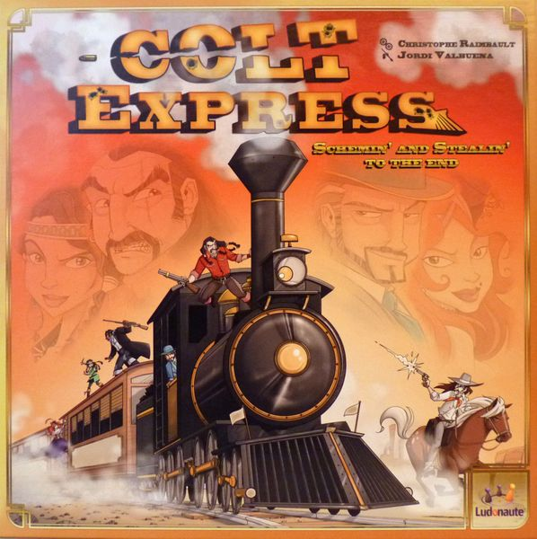 Box front of English first edition of Colt Express.