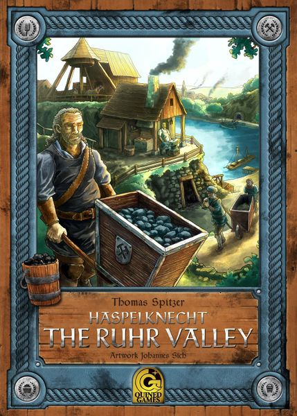 Haspelknecht: The Ruhr Valley, Quined Games, 2017 — front cover (image provided by the publisher)