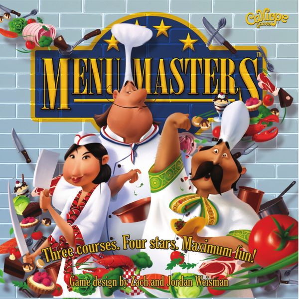 Menu Masters, Calliope Games, 2016 — front cover (image provided by the publisher)