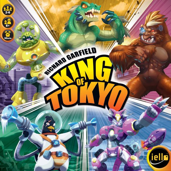 King of Tokyo, IELLO, 2016 — front cover (image provided by the publisher)