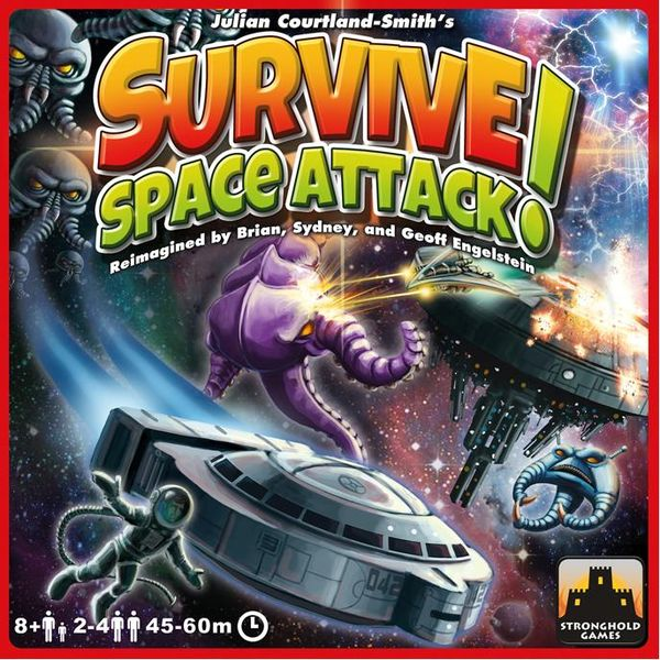 Survive: Space Attack!, Stronghold Games, 2015 (image provided by the publisher)