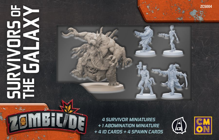 Zombicide: Invader – Survivors of the Galaxy, CMON Limited/Guillotine Games, 2019 — front cover (image provided by the publisher)