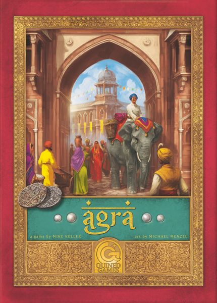 Agra, Quined Games, 2017 — front cover (image provided by the publisher)