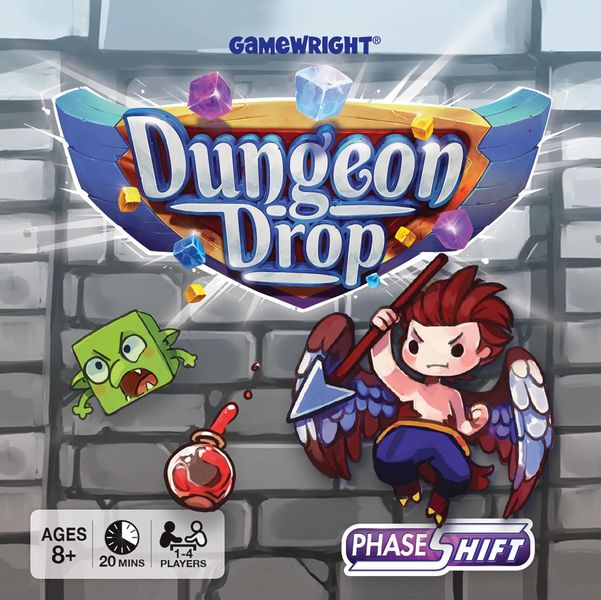 Dungeon Drop, Gamewright, 2020 — front cover (image provided by the publisher)