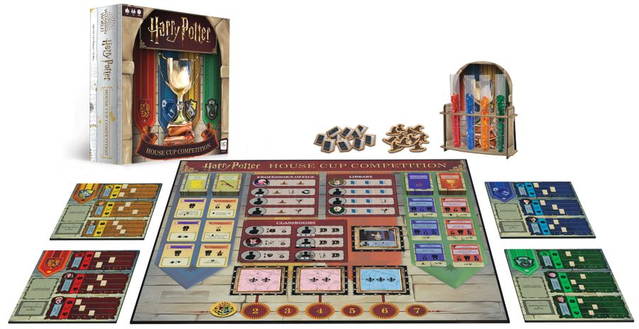 Harry Potter: House Cup Competition, The Op, 2020 — box and components (image provided by the publisher)