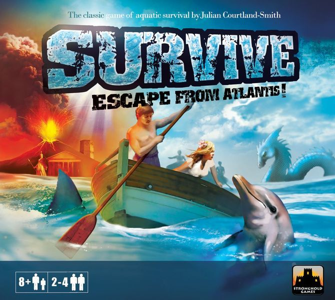 "Final Print Cover for ""Survive: Escape from Atlantis!"" (Stronghold Games, 2010)"