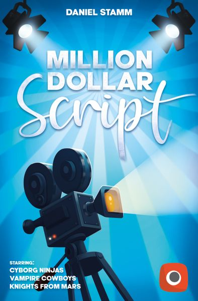 Million Dollar Script, Portal Games, 2020 — front cover (image provided by the publisher)