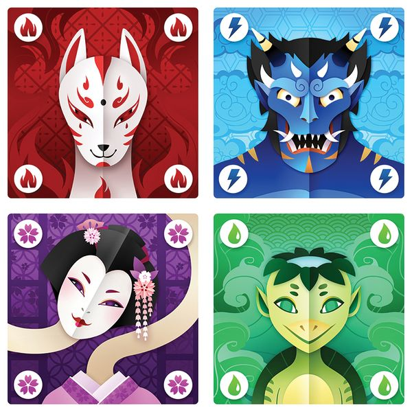 Yōkai, Bankiiiz Editions, 2019 — sample cards (image provided by the publisher)