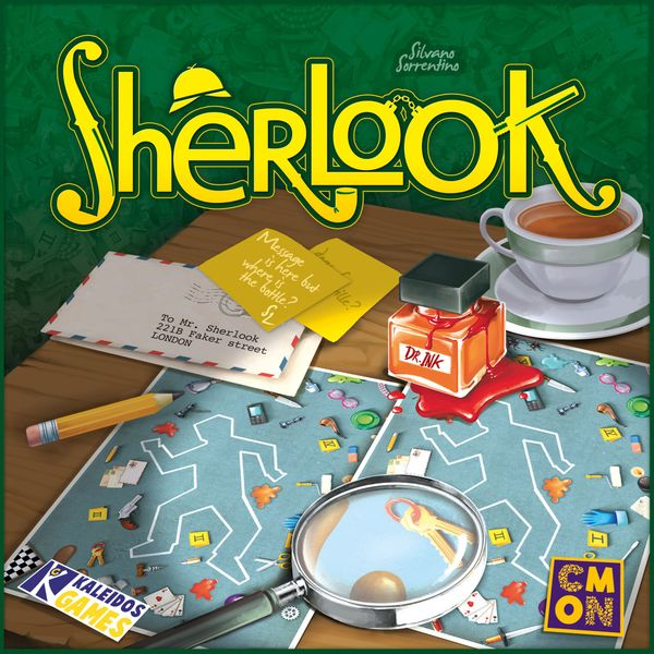 Sherlook, CMON Limited/Kaleidos Games, 2017 — front cover (image provided by the publisher)