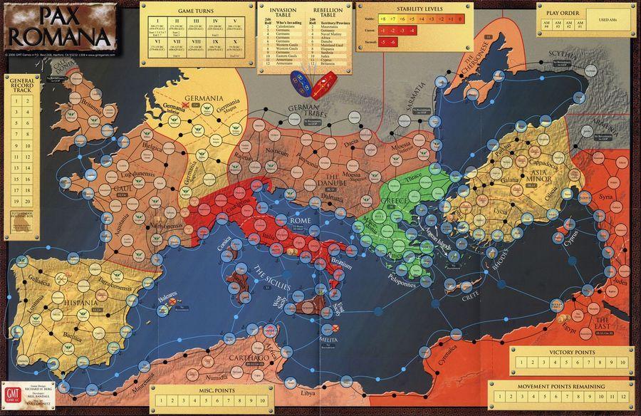 Pax Romana. Игровая карта