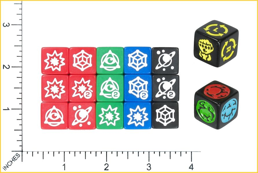 THE DICE SHOWING MOST SIDES