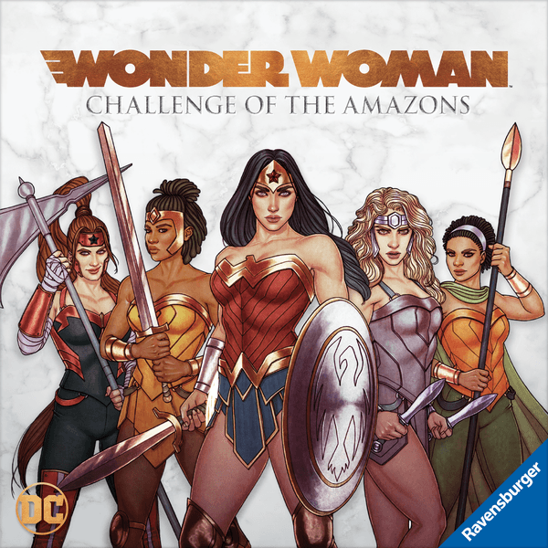 Wonder Woman: Challenge of the Amazons, Ravensburger, 2020 — front cover (image provided by the publisher)