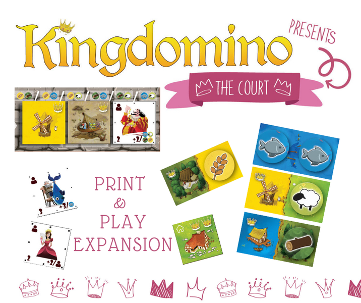 Kingdomino The Court expansion PnP 'cover', from the publisher