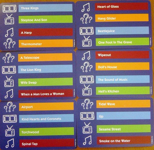 Pictionary Category Cards - Галерија слика