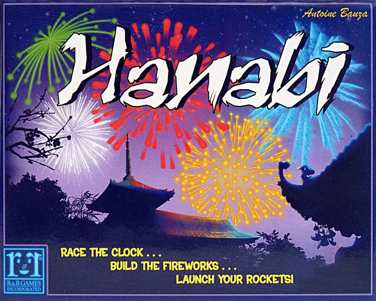 Box front of the English first edition of Hanabi.