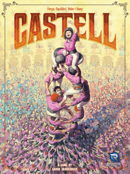 Castell, Renegade Game Studios, 2018 — front cover (image provided by the publisher)