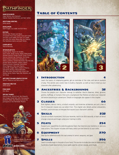 Pathfinder Core Rulebook (2nd Edition) | Image | BoardGameGeek