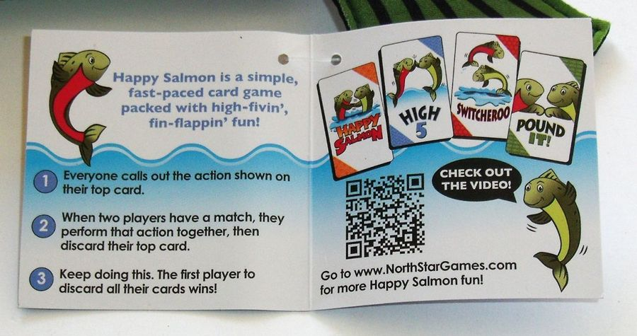 Happy Salmon Card Game Blue Edition