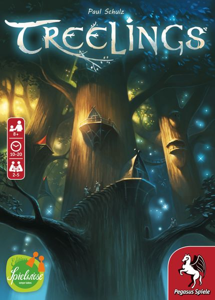 Treelings cover, English/German version 2020, Pegasus Spiele/Edition Spielwiese 18341G