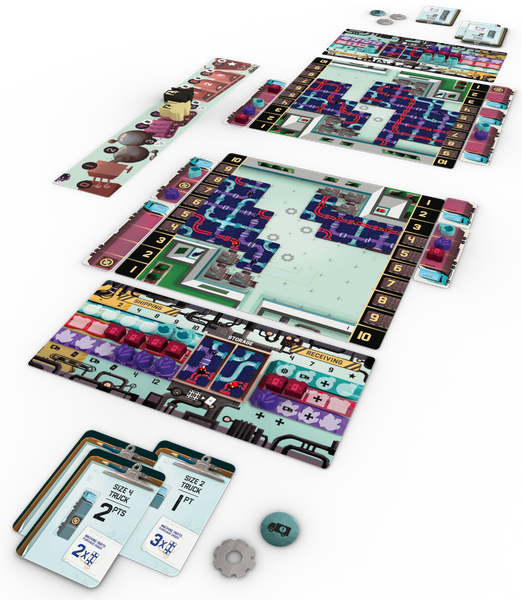 Curious Cargo, Capstone Games, 2020 — gameplay example (image provided by the publisher)