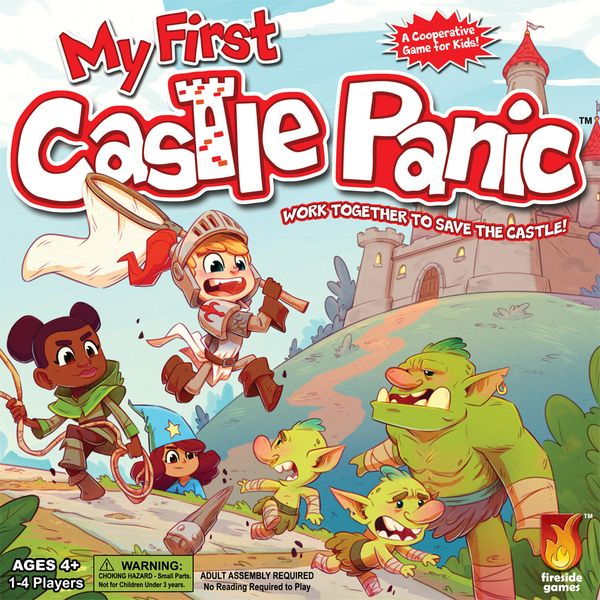 My First Castle Panic, Fireside Games, 2019 — front cover (image provided by the publisher)
