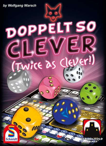 Twice as Clever U.S. front cover from publisher Stronghold Games!