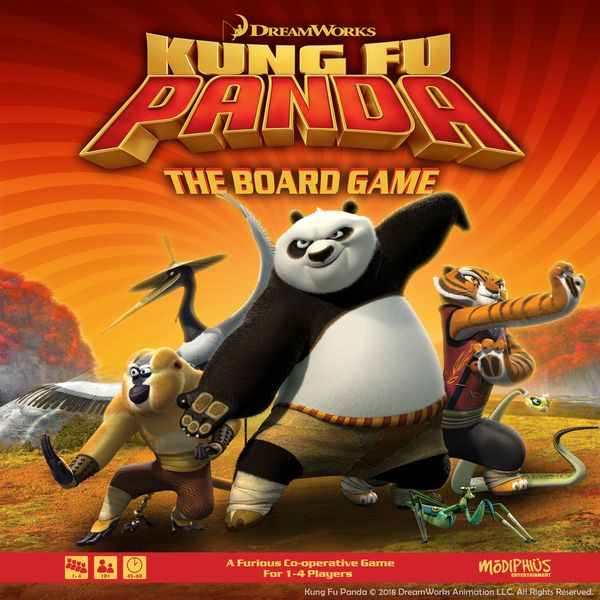 Kung Fu Panda: The Board Game, Modiphius Entertainment, 2019 — front cover