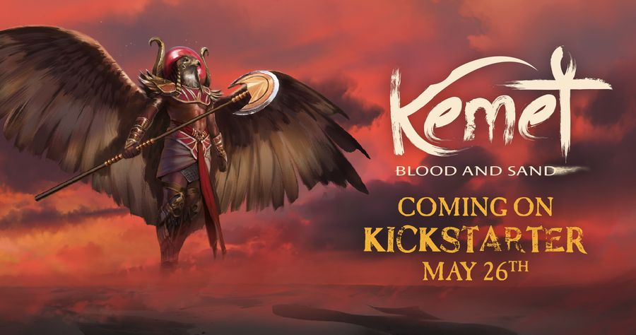Mark your calendar because Kemet: Blood & Sand is coming to Kickstarter on May 26th! Kemet: Blood & Sand features refined gameplay and improved rules, thanks to your feedback and many hours of play.