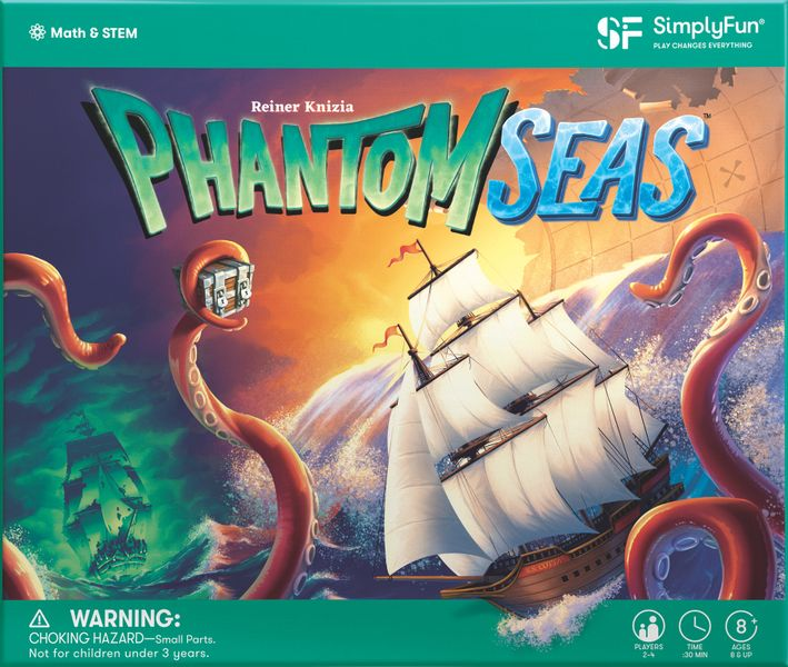 Phantom Seas, SimplyFun, 2020 — front cover (image provided by the publisher)