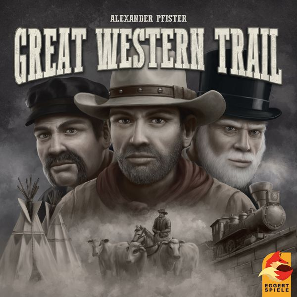 Great Western Trail, eggertspiele, 2019 — front cover (image provided by the publisher)
