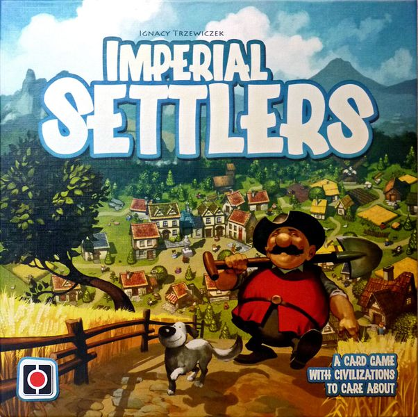 Box front of English first edition of Imperial Settlers.