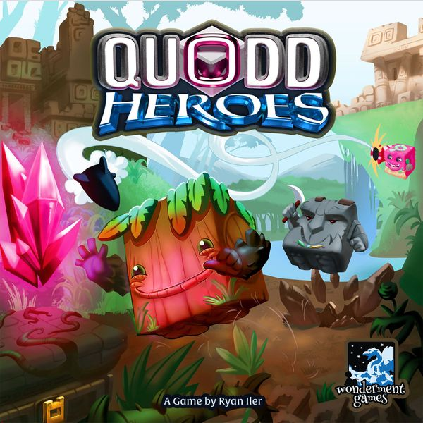 Quodd Heroes, Wonderment Games, 2017 — front cover (image provided by the publisher)