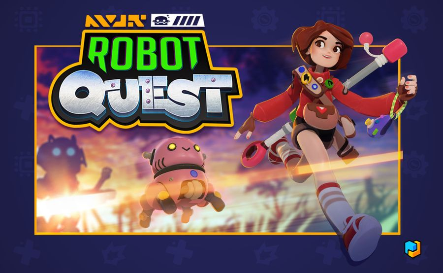 Robot Quest, Perfect Day Games / White Wizard Games, 2021 — preliminary cover (image provided by the publisher)