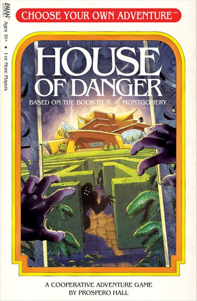 Choose Your Own Adventure: House of Danger, Z-Man Games, 2018 — front cover (image provided by the publisher)