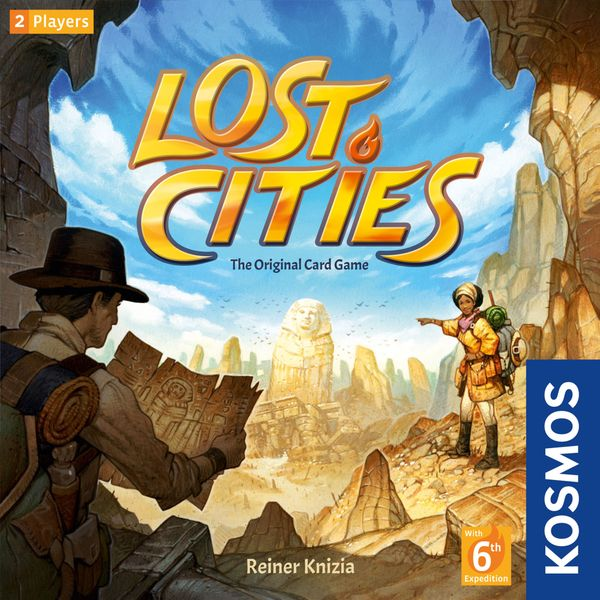 Lost Cities, KOSMOS, 2019 — front cover (image provided by the publisher)