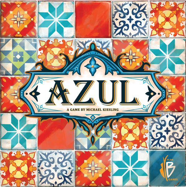 Azul, Plan B Games, 2017 — front cover (image provided by the publisher)