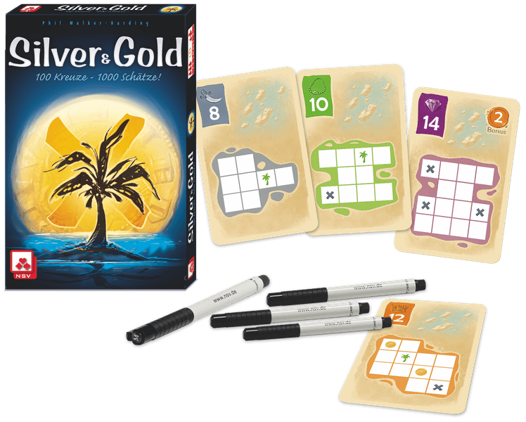 Silver & Gold, NSV, 2019 — box and sample cards (image provided by the publisher)