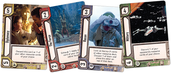 Sample non-character resource cards.