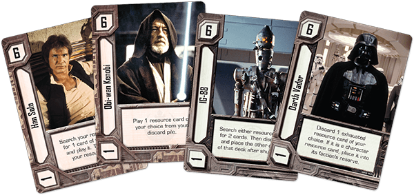 Sample character resource cards.