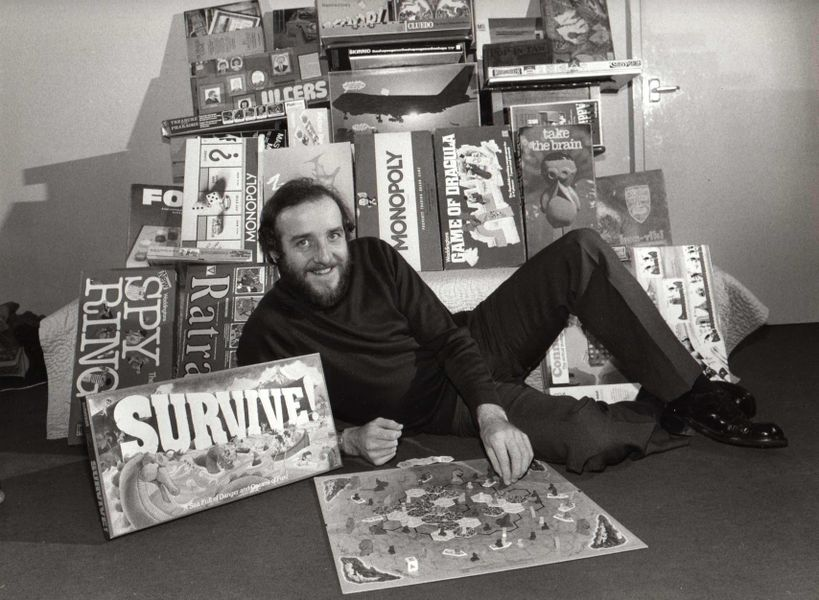 Parker Bros Survive! 1982 with the game's inventor Julian Courtland-Smith
